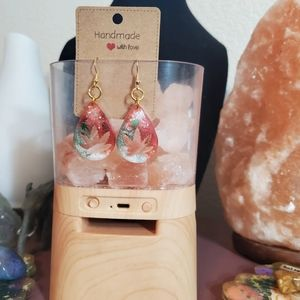 Handmade cute Mexican leaf earrings